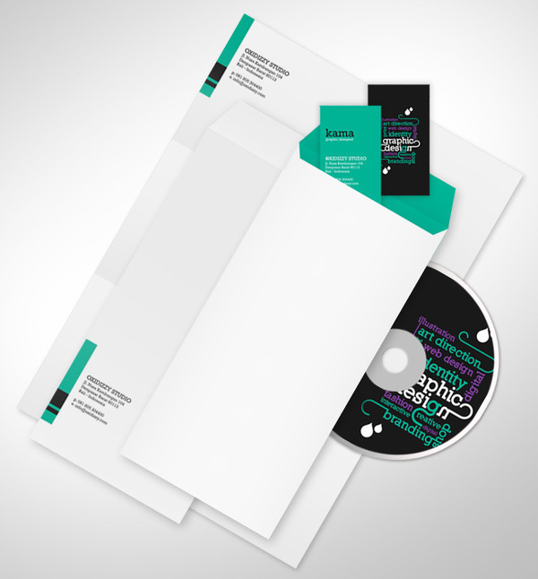 OXIDIZZY - corporate stationery set on Behance