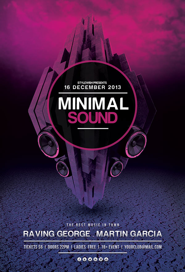 Minimal Sound Flyer on Behance