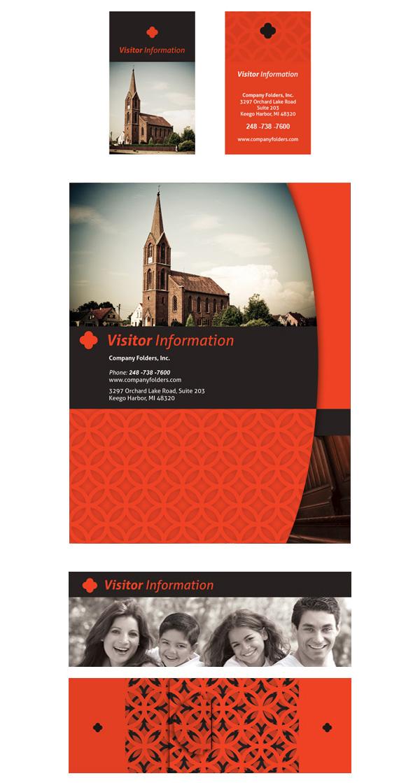 Free Template Church Visitor Card  Folder Design on Behance