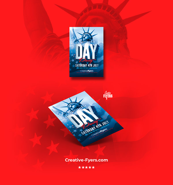 Independence Day Flyer on Pantone Canvas Gallery