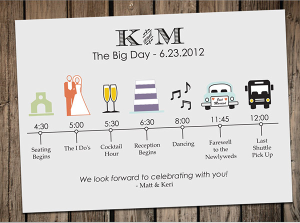 Wedding Timeline Card on Behance - wedding timeline