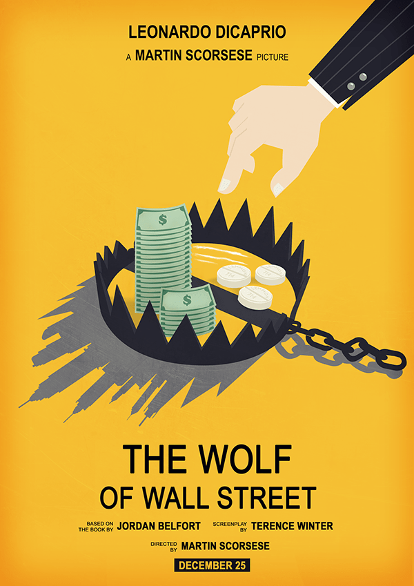 Al Capone Quotes Iphone Wallpaper The Wolf Of Wall Street Movie Poster On Behance