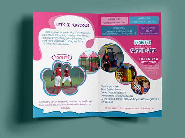 Children sports brochure on Student Show - sports brochure