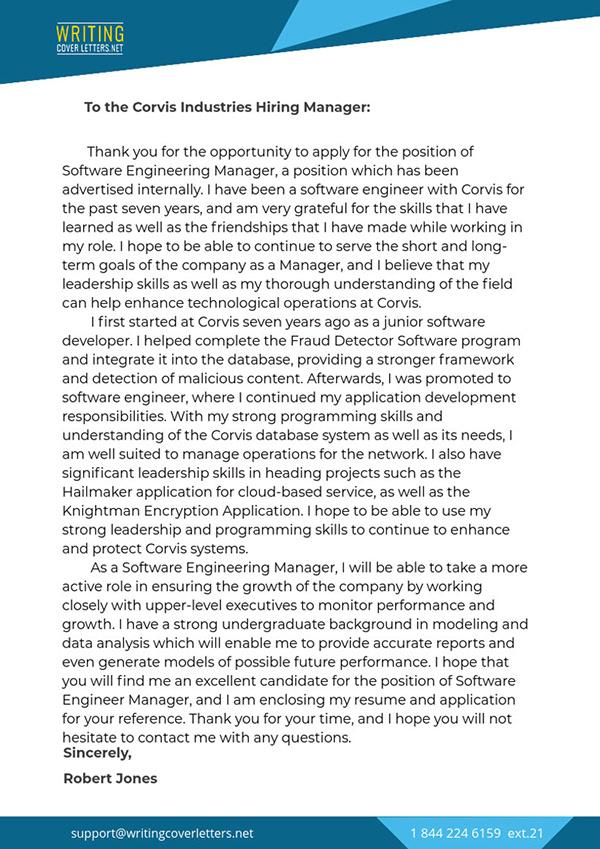 Internal Job Cover Letter Sample on Pantone Canvas Gallery