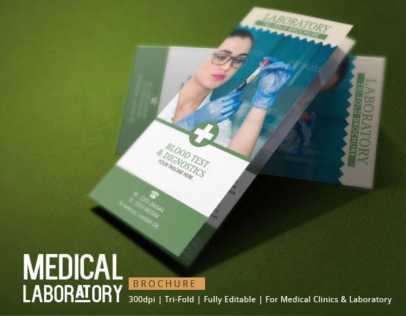 Medical Brochure Template - Blood Test Lab on Behance - Medical Brochure Template