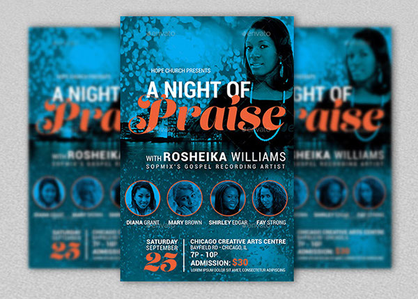 Praise Concert Flyer and Poster Template on Behance