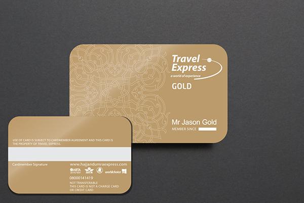 Travel Express uk Loyalty Cards on Behance - membership cards design