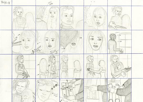 Storyboarding -Movie Storyboard - Edward Scissorhands on Behance