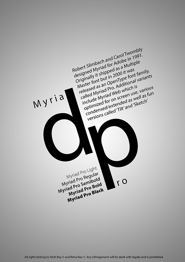 Typographic Poster Design (Informative) on Student Show