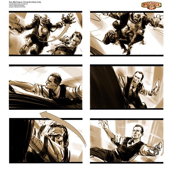 BioShock Infinite Storyboards on Behance - photography storyboard sample