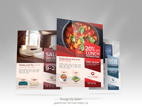 Product Promotion Flyer Template \u2013 Multipurpose on Behance