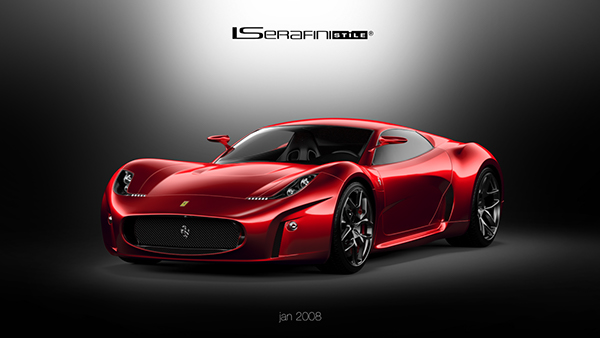 Cool Old Cars Wallpapers Ferrari Concept 2008 New Renders On Behance