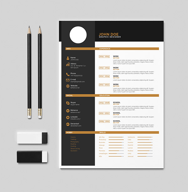 Free Cv (Resume) İndesign + PDF Template on Student Show