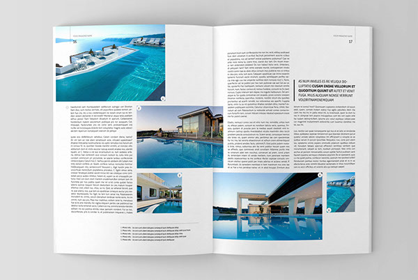 Architecture magazine template on Behance - architecture brochure template