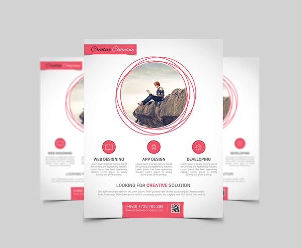 Modern Web/App Design Agency Flyer/Poster on Behance - web flyer