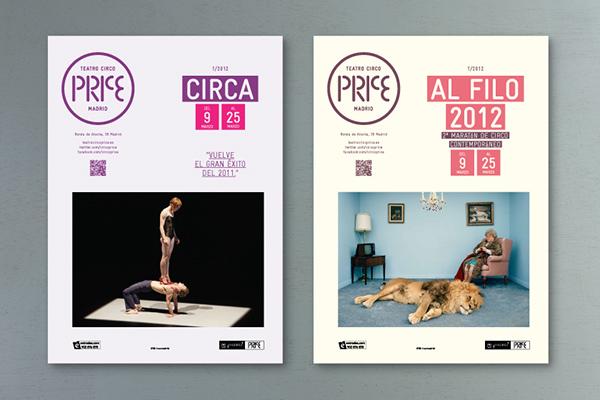 Teatro Circo Price on Behance - contemporary flyer