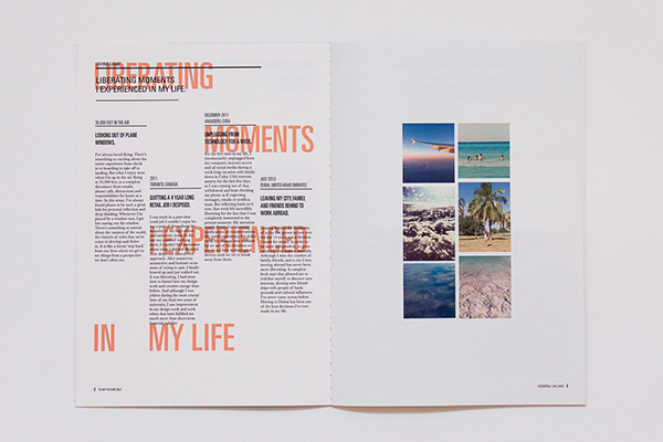 To My Future Self (D\AD New Blood) on Behance - property brochure