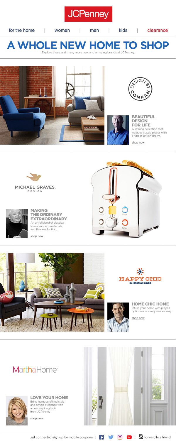 Home Focused Marketing Emails On Behance
