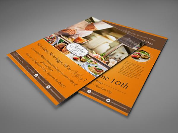 Restaurant Flyer Template on Behance