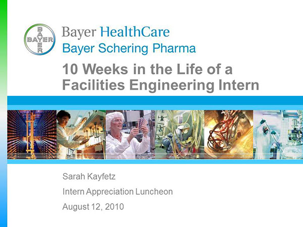 Bayer Facilities Engineering Internship Presentation on Behance