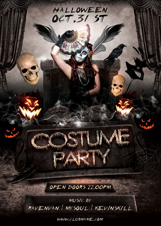 Costume Party Flyer Template on Behance