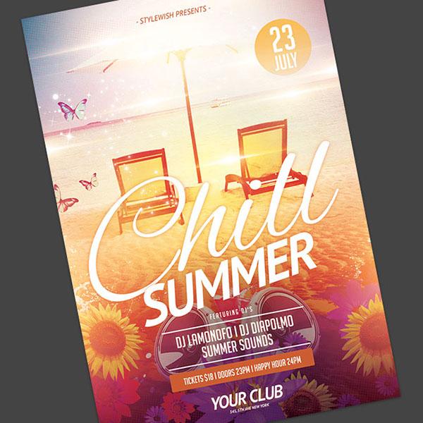 Chill Summer Flyer on Behance - summer flyer template