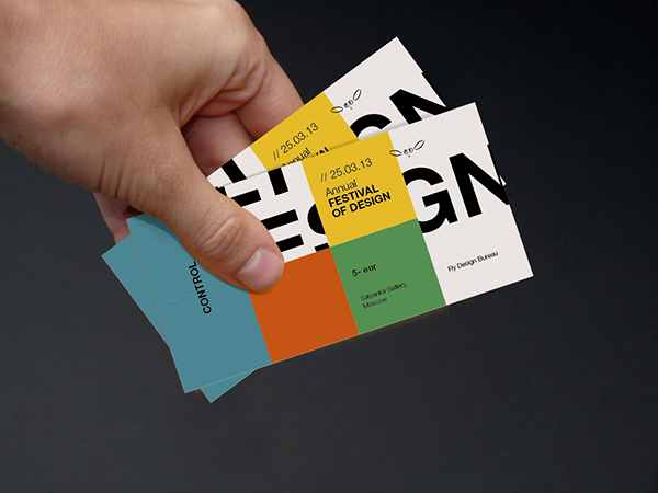 Poster, flayer and tickets for design festival on Behance - concert tickets design