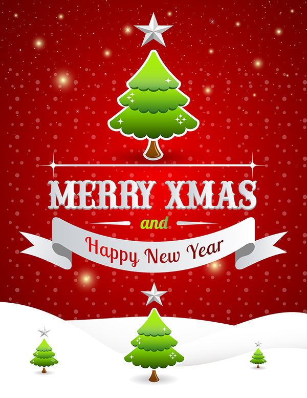 Free Merry Christmas \ Happy New Year Poster Template 2 On - new year poster template