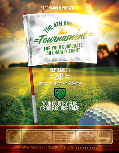 Golf Tournament Event Flyer Template on Behance - golf tournament flyer template