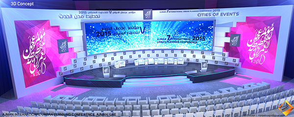 20m x 4 M seamless LED wall - used at senior leadership conference - proposal event planning