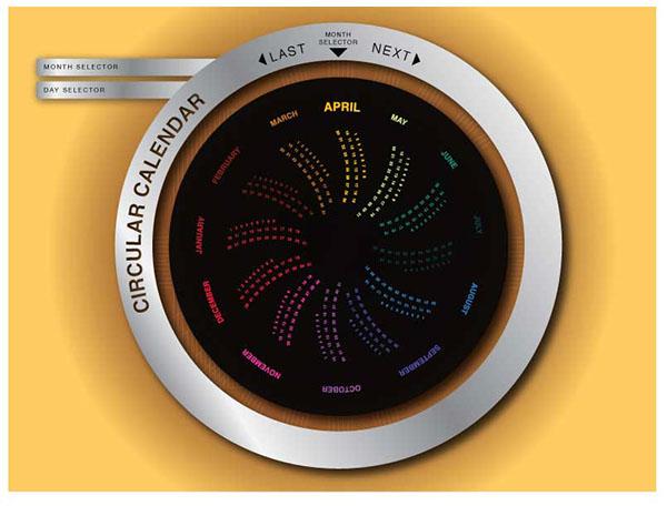 Circular Calendar on Behance - circular calendar