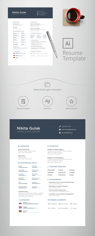 behancenet resume template