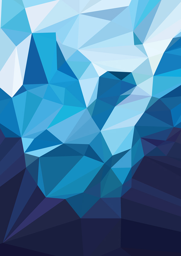 Cute Mobile Wallpaper For Samsung Galaxy Y Iceberg Polygon Art On Behance