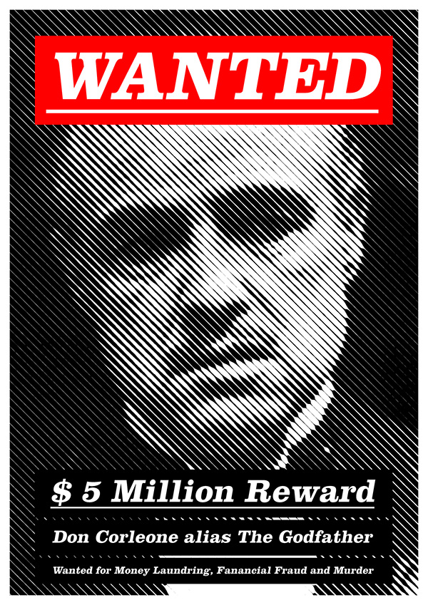 Modern Wanted Poster on Student Show - criminal wanted poster