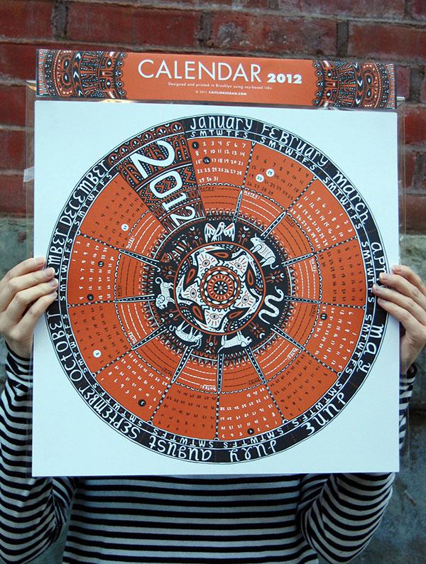 2012 Circular Calendar on RISD Portfolios - circular calendar