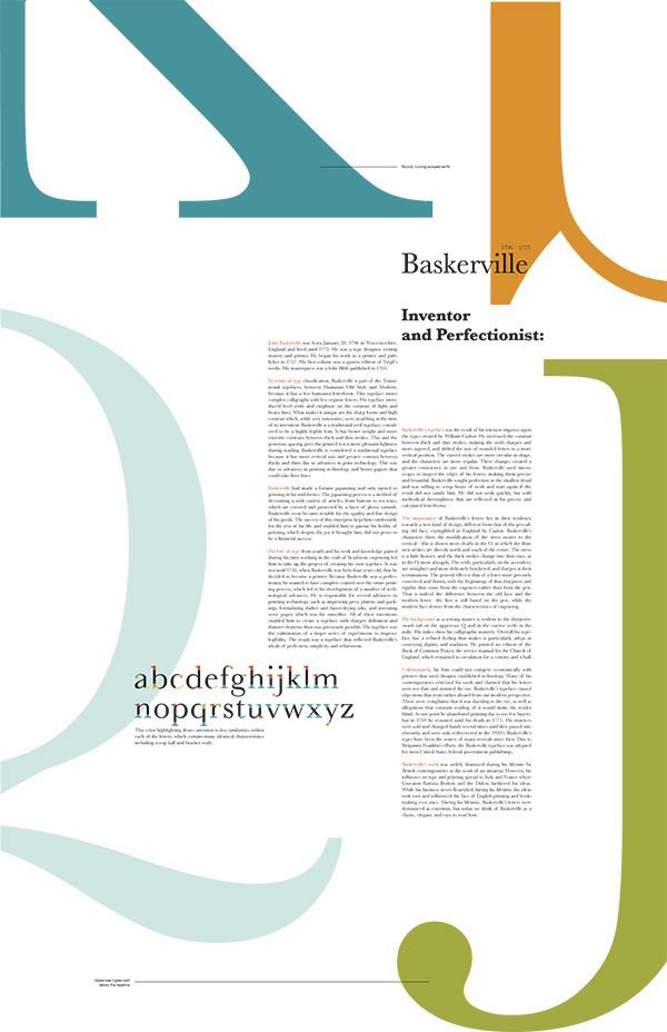 Font Study ITC New Baskerville on Behance