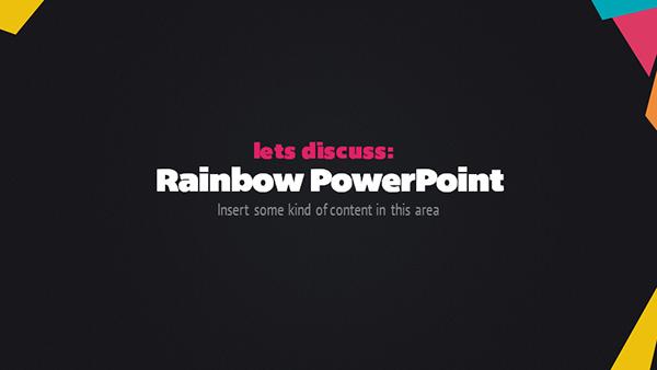Rainbow Powerpoint on Behance