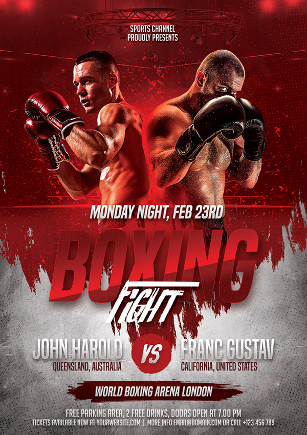 Boxing Flyer Template on Wacom Gallery