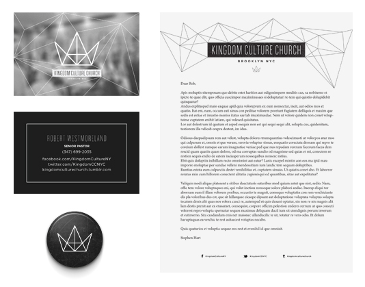 Kingdom Culture Church Brooklyn on Behance - studio brochure