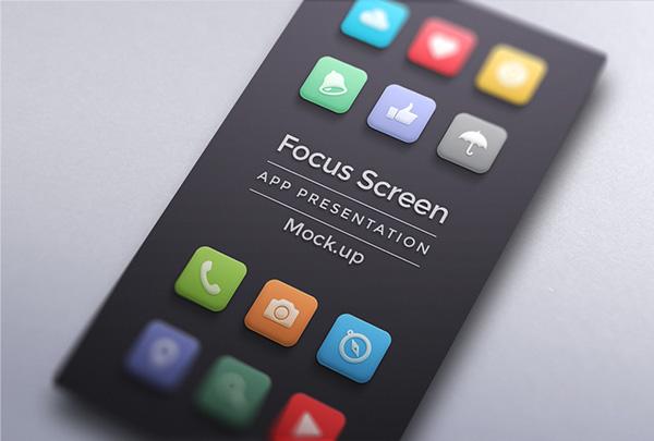 App Mockup on Minimal Screen on Behance