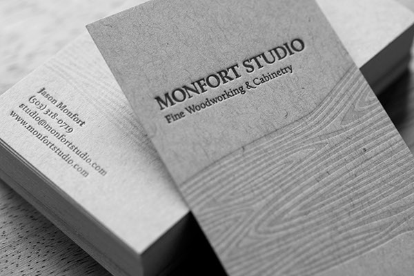 Letterpress Business Cards on Behance - letterpress business card