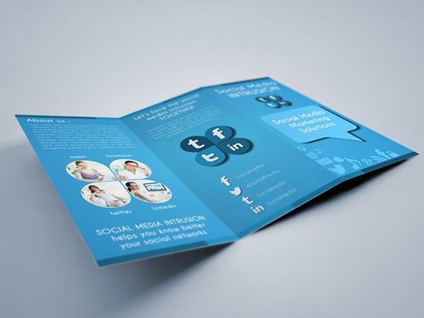 Social Media Tri-fold Brochure Template on Behance