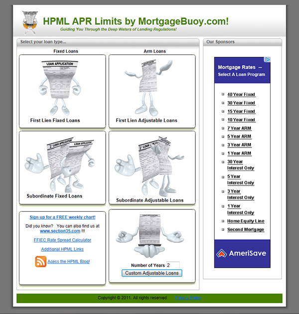 Higher-Priced Mortgage Loan Calculator (HPML) on Behance