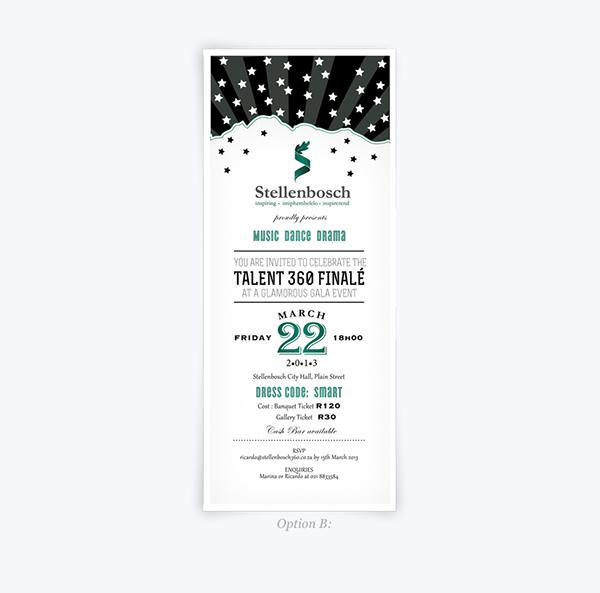 Talent 360 - Invitation, tickets and program design on Behance - invitation forms