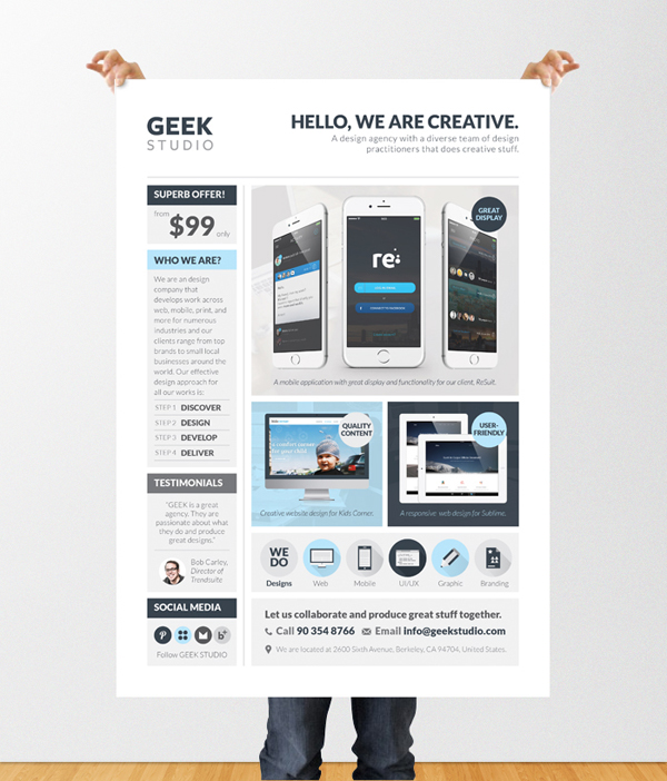 Design Services Flyer/Poster Template (Web/App/Graphic) on Behance - web flyer template