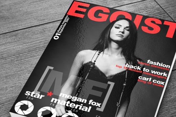 Free Magazine Cover Mockup reup on Behance