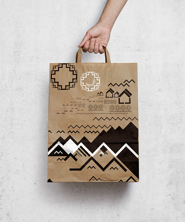 Paper Bag Graphic Design - Simple Shape on Student Show