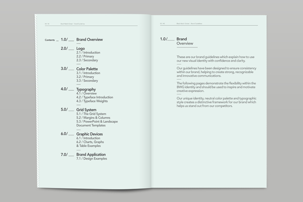 BWG Brand Development on Behance - what is a research paper