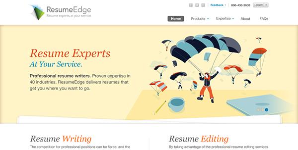ResumeEdge Banner Illustrations on Behance