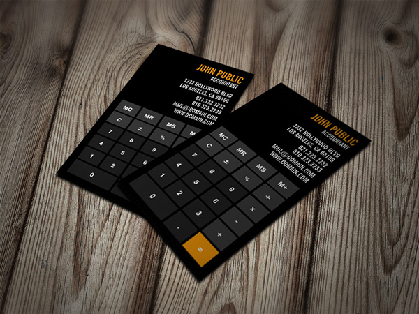 Accountant Calculator Business Cards on Behance